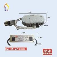 6 cái/lốc Miễn Phí vận chuyển LED Trang Bị Thêm Bộ chiếu sáng đường phố 100 Wát/120 Wát/150 Wát SMD3030 đèn led AC100-277V LED Trang Bị Thêm Kit led đèn