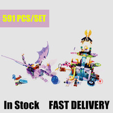 New Elves fairy Dragon Sanctuary building Blocks Bricks Toys 41178 fit Elves fairy friends gift kid girl