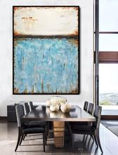 Wall Art Abstract Original Oil Painting Large Landscape Umber Contemporary Vertical Hand Painted painting
