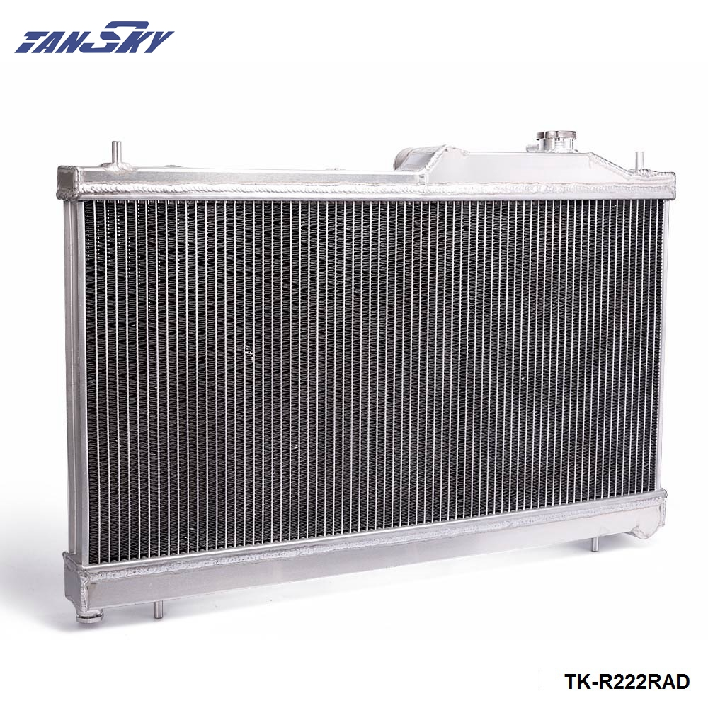 High Performance Aluminum Radiator For Subaru WRX STi 08-14 Manual M/T TK-R222RAD tansky 42mm 2 row performance aluminum radiator for nissan skyline r33 r34 tk r106rad