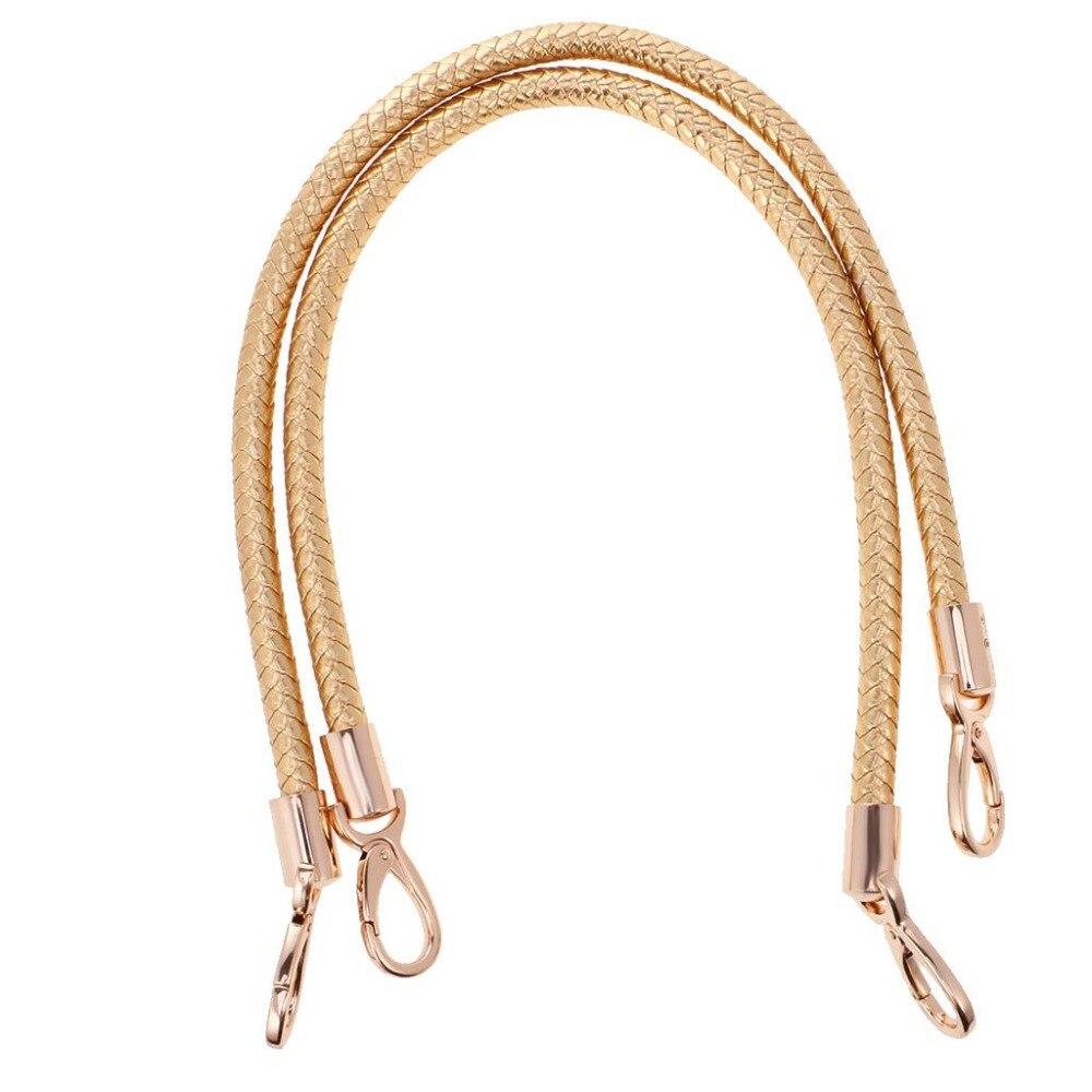 1Pair 60cm Leather Bag Handles DIY Replacement Bag Straps Detachable Shoulder Bags Handbag Handles Bag Accessories Parts