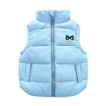9M-3T Years children vest Baby lady boy waistcoat children boys four Solid Color Boy Winter Vest Down Feather Warm Children Vest Clothes