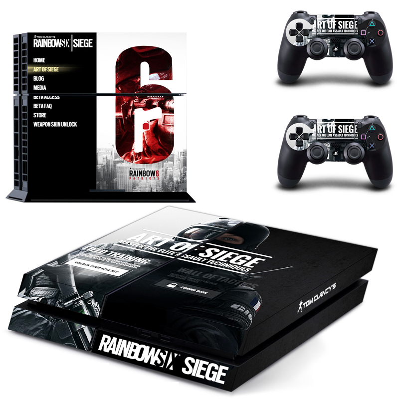 Image 3 - HOMEREALLY Stickers Classic Clancy's Rainbow Six PS4 Skin For Sony PlayStation 4 Console and Controller Skin Ps4 Accessory-in Stickers from Consumer Electronics