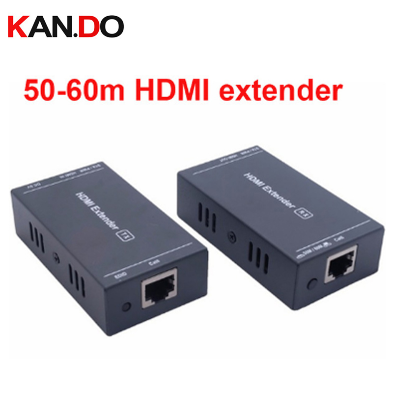 202p Hdmi Transmission HD HDMI Extender TX/RX Over Single Cat6 Ethernet Cable Up To 60M/197 Feet 1080P 3D HDMI Transmission