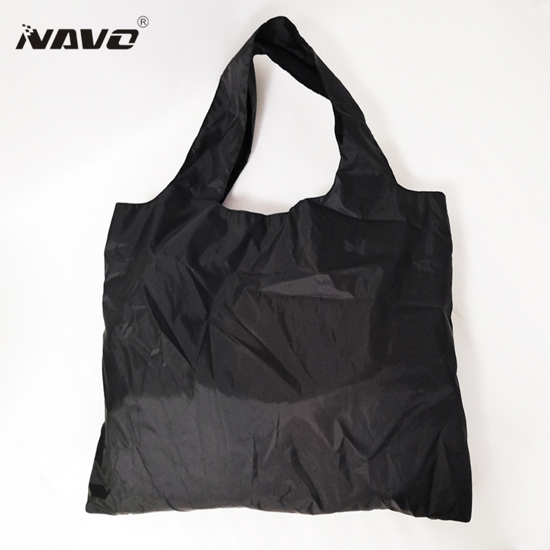 NAVO plain black fabric shopping bag 50 x 65cm Big Shopper Tote Reusable Grocery Bags
