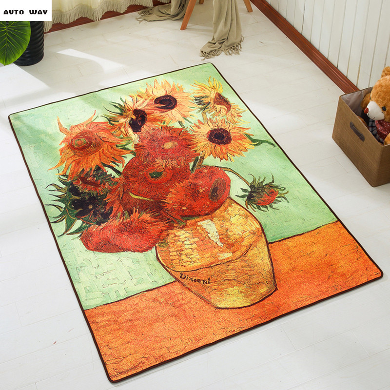 Vincent Van Gogh Oil Painting Design Star Sky Carpet European Rugs ...