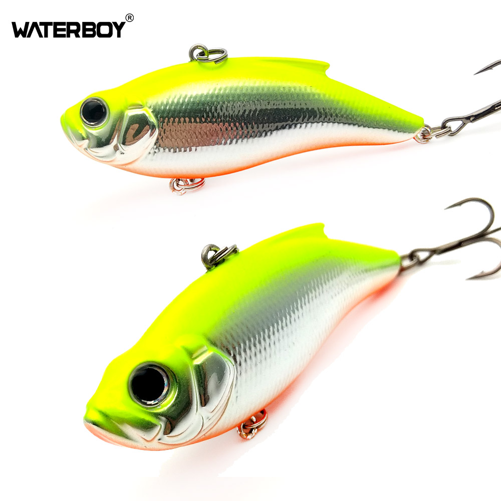 WATERBOY 7.5cm16.5g VIB Lure Hard Artificial Fishing Vibe Baits Sinking New Plastic Vibration Hard Sinking Vibrator Bass Bait