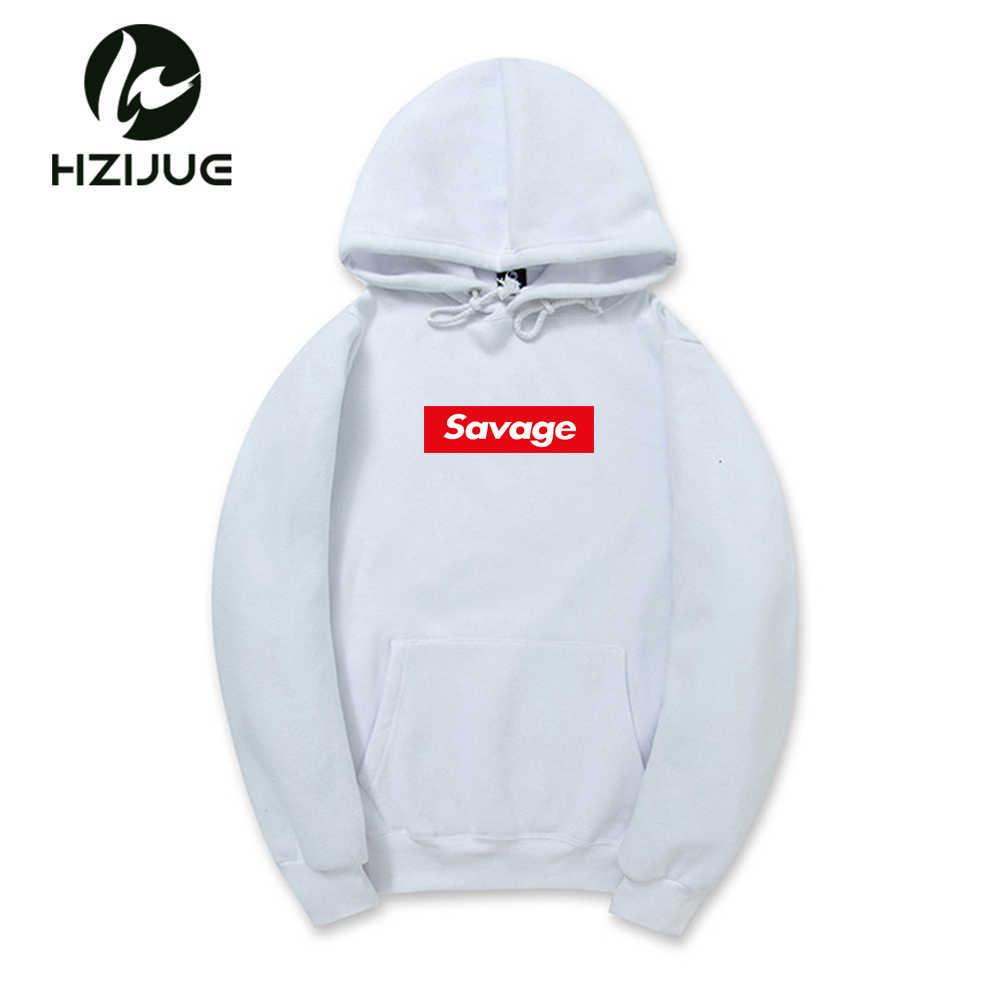 396a695bef5 ... 2018 New 21 Savage Hoodies Man Parody No Heart X Savage Letter Print  Hoodie Sweatshirt Hip ...