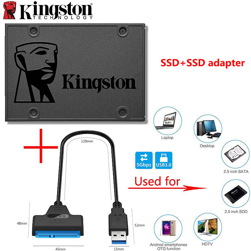 Kingston HD A400 <font><b>SSD</b></font> <font><b>120</b></font> <font><b>GB</b></font> 240 <font><b>GB</b></font> 480GB 960GB <font><b>SATA</b></font> 3 2.5
