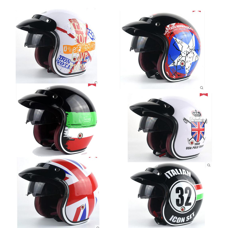 National flag design motorcycle helmet male women's personality four seasons safety helmet Captain America Casco de la motocicle ежедневник four seasons america