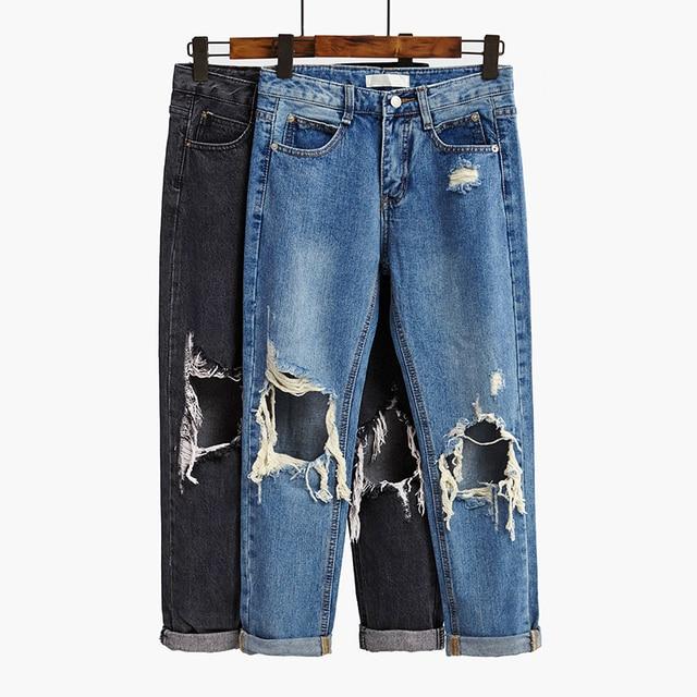 Très La nuova primavera 2017 studenti ginocchia jeans strappati  PO38
