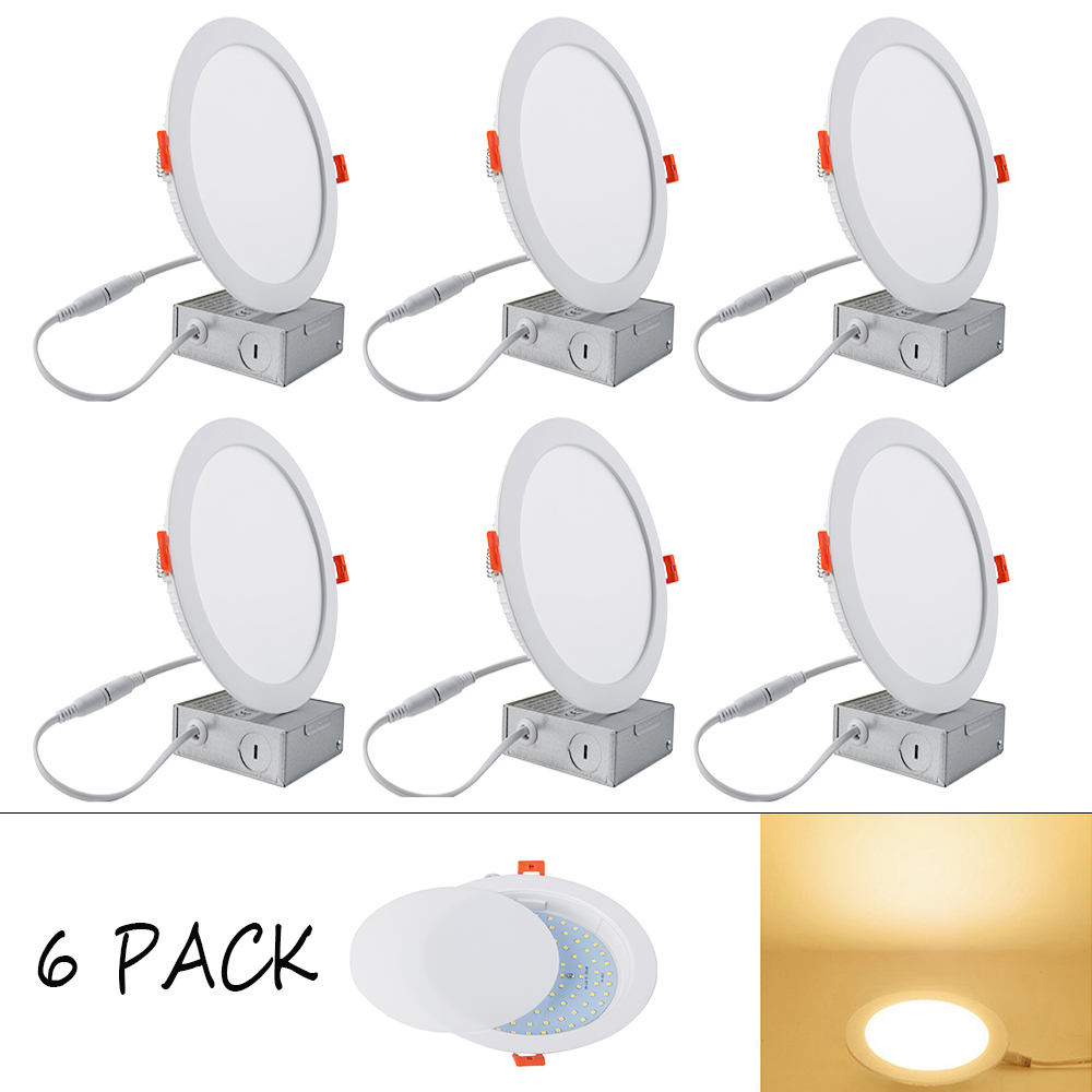 Huaxinv 12w 6 Ultra Thin Led Recessed Ceiling Light With Junction