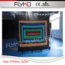 P5 Free Shipping Good Definition Flexible Indoor High Quality Led Best  Selling Video Stage Curtain(