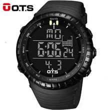 OTS Relógio Digital Homens Relógios Desportivos de Luxo Da Marca Militar 50 M À Prova D' Água de Natação Ao Ar Livre Escalada Relógio de Pulso relogio masculino