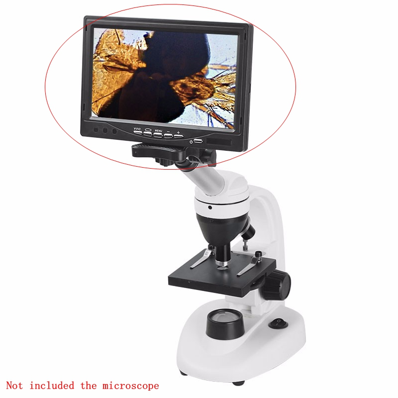 5 7 10 Inches HD LCD Displayer with WF10X Eyepiece for Stereo or Biological Microscope Electronic Eyepiece Monitor Screen Video txs 30 dissecting microscope 2x objective wf10x eyepiece monocular stereo microscope 20x up right image