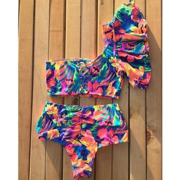 2020 Sexy Bikini Swimwear Women Swimsuit Push Up Biquini Brazilian Bikini Set Tie Up Summer Beach Wear Print Bathing Suit Female 2