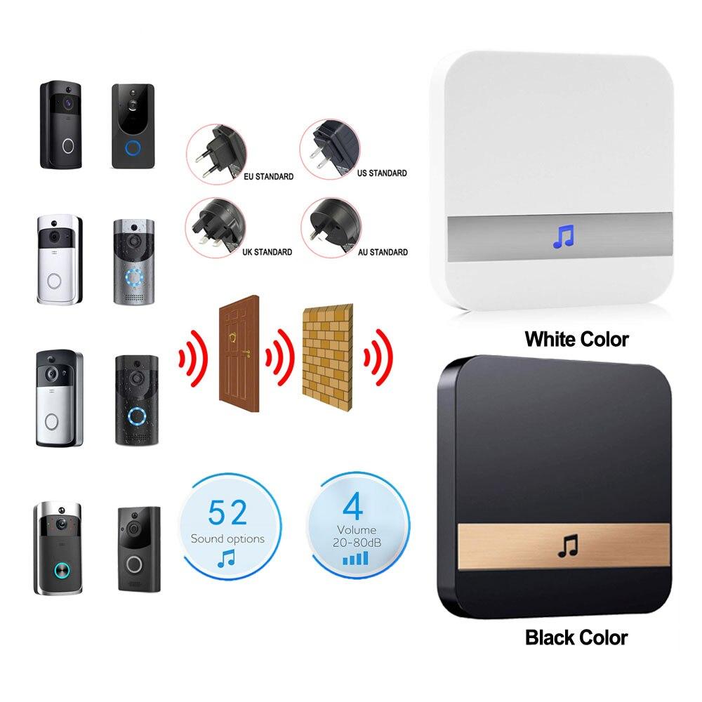 Security & Protection Ac 110-220v 20-80db Smart 433mhz Chime Indoor Doorbell Wireless Wifi Door Bell Eu Us Uk Au Plug For Video Doorbell Waterproof