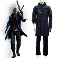 New Arrival Game Devil May Cry 5 Nero Cosplay Costume Halloween Cosplay Costume Unisex Game Devil Hunter Nero Costume Custom M