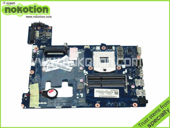 NOKOTION Laptop Motherboard for Lenovo Ideapad G500 HM70 LA-9632P GMA HD DDR3 Main Board free shipping free shipping new viwgpgr la 9632p main card for lenovo g500 notebook motherboard hm70 for pentium cpu only