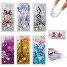 LUCKBUY Soft TPU Back Cover For Sony Xperia L1 Dynamic Case Liquid Glitter Quicksand Phone G3311 G3312 G3313 5.5