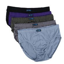 10PCS/Lot Man Brief Cotton Sexy Underwear Solid Briefs Factory Direct Sale Men Bikini Underwear Plus L 8XL One Size=7XL 30=8XL