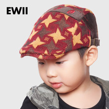 16150e6c41d 2017 Fashion baby retro hat for boy winter berets caps kids casual beret  hats children flat cap bone boina hombre casquette