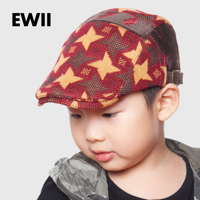 71699c77f9a 2017 Fashion baby retro hat for boy winter berets caps kids casual beret  hats children flat