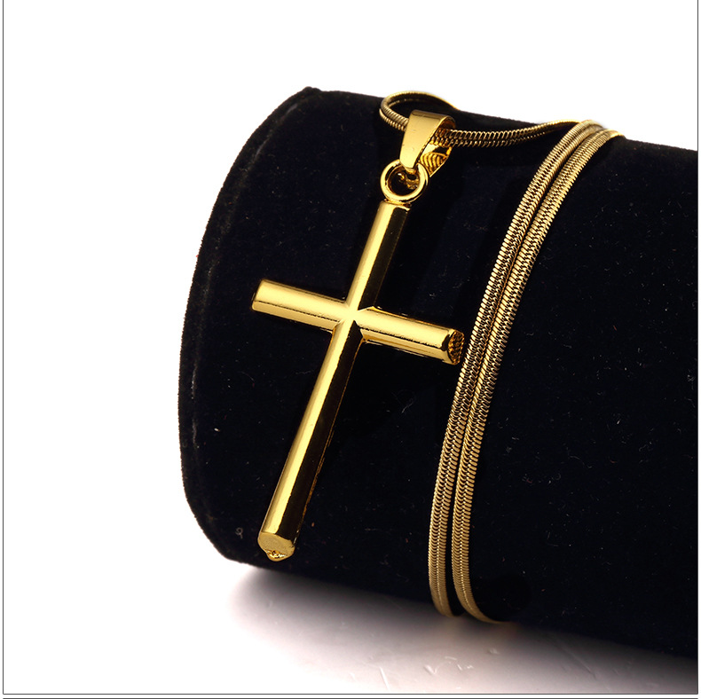 964328bae1 Simple Fashion Yellow Gold Filled Smooth Small Cross Pendant Necklace for  Men or Women-in Pendant Necklaces from Jewelry & Accessories on  Aliexpress.com ...