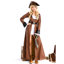 Bruja de halloween uniforme mujer cosplay ropa ropa de disfraces de pirata del caribe pirata dress europea