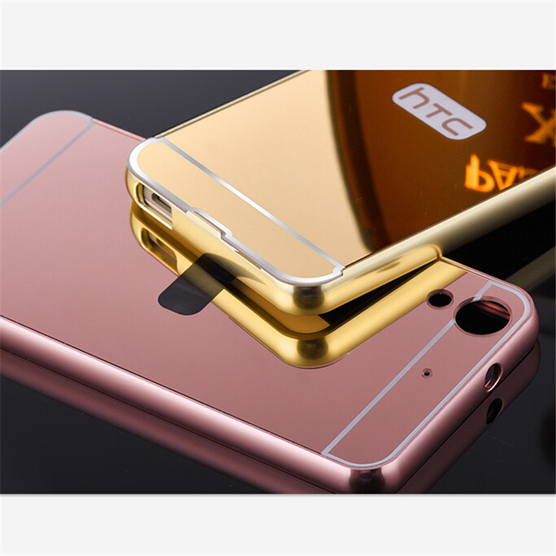 For HTC 626 Case Mirror Plating Aluminum Metal Acrylic Back Cover For HTC Desire 626 626w