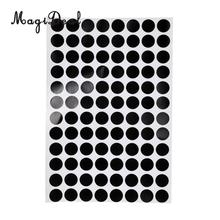 MagiDeal Professional Set of 30Pcs 3/1.2cm Black Pool Table Spot Marking Stickers for Table Billiards Game Acce - Self Adhesive
