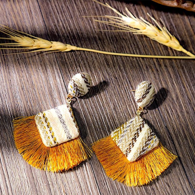 New Arrival Fashion Tassel Earrings for Women 19 Statement Earrings Striped Long Fringe Earrings Girl Birthday Jewelry Gift 4