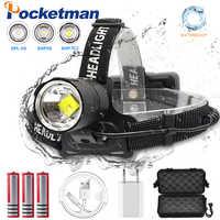 120000 Lumen XHP-70.2 led Headlamp Fishing Camping headlight High Power lantern Head Lamp Zoomable USB Torches Flashlight 18650