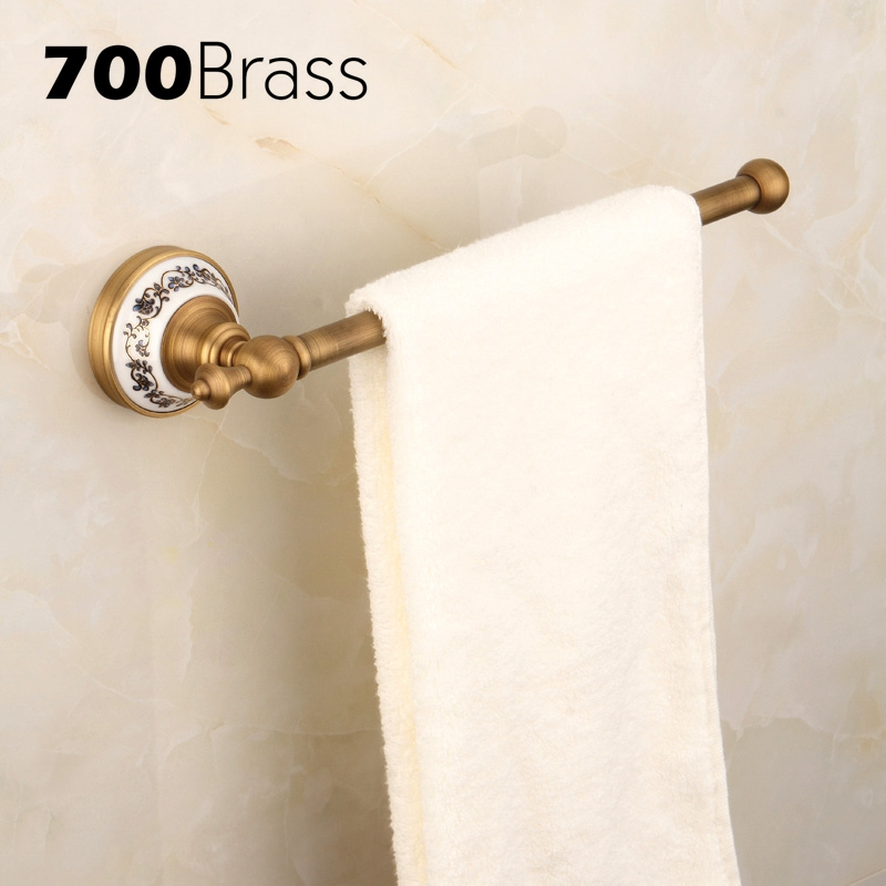 Wholesale And Retail Antique Brass 30cm Single Towel Bars Wall Mounted Bath Towel Holder Bathroom AccessoriesWholesale And Retail Antique Brass 30cm Single Towel Bars Wall Mounted Bath Towel Holder Bathroom Accessories
