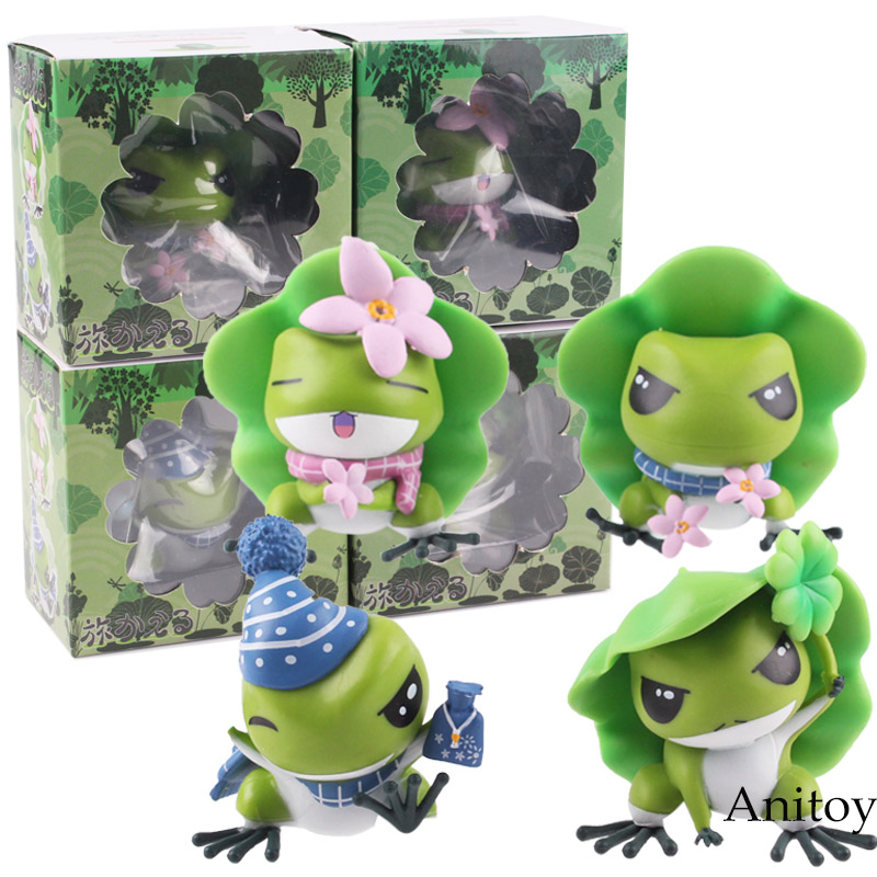 Japanese Mobile Games Action Figure Travel Frog Cute Figures Toy PVC Collectible Model Gift Doll 4pcs/set 6cm KT4838