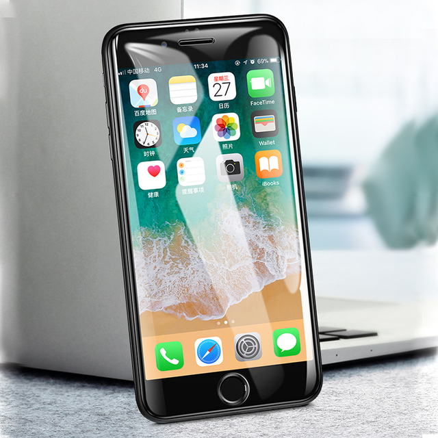TeoYall Full 6D Edge Tempered Glass For iPhone X XS 7 8 6 6s Plus Screen Protector on iPhone 7 8 6 10 XS MAX XR Glass Protective 2