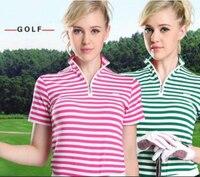 Professional Golf Trainning Breathable POLO Shirt Short Sleeve Elastic T Shirt Lady Quick Dry Golf Shirt