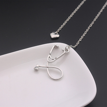 Best Zinc Alloy Stethoscope Heart Necklace Cheap