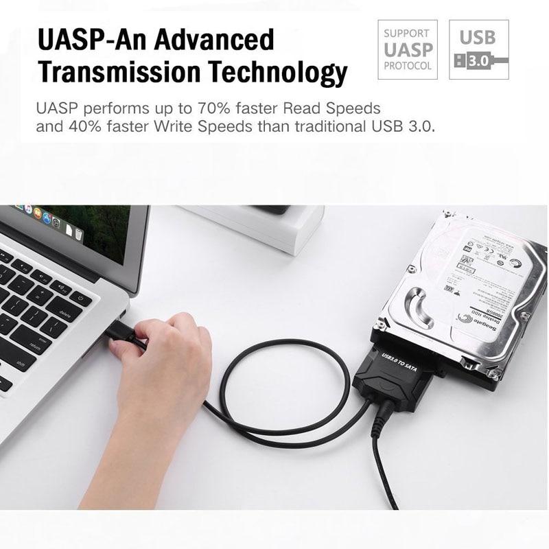 Câble adaptateur Sata USB 3.0 vers Sata Converter 2.5 Lecteur de - Câbles et connecteurs informatiques - Photo 4