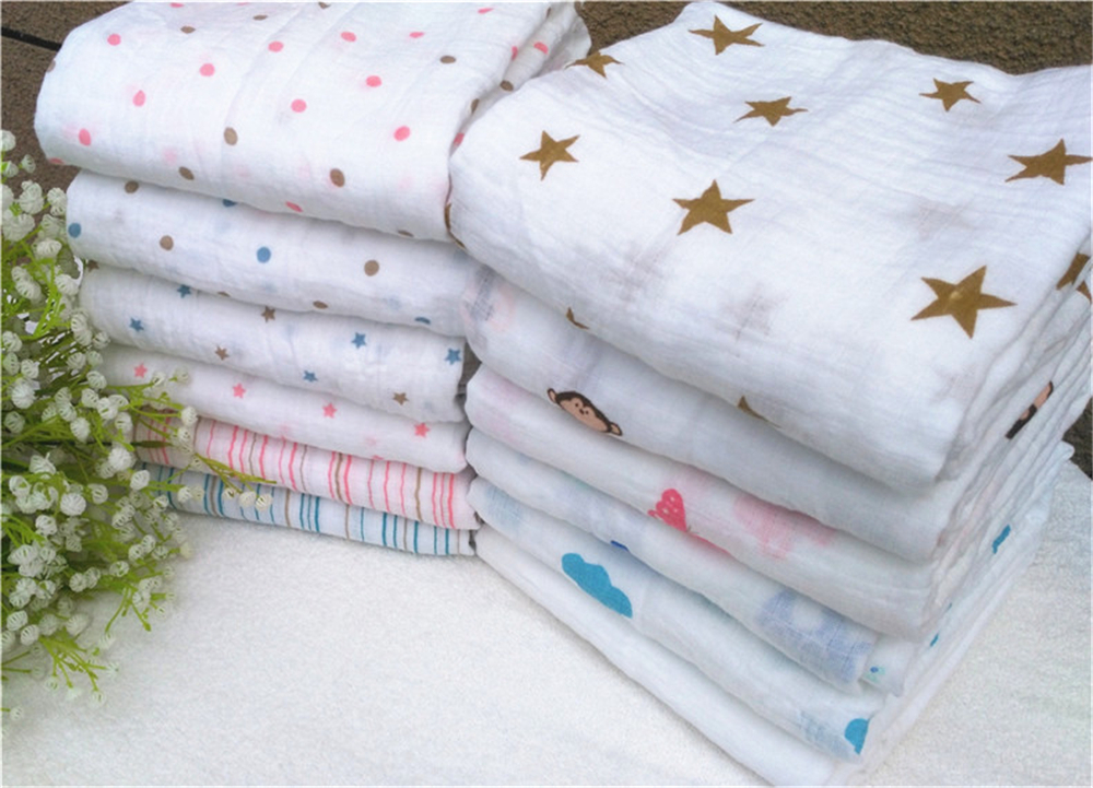 Aden Anais Muslin Baby Swaddling Blankets Newborn Infant 100% Cotton Swaddle Towel Famous Multifunctional 120x120cm/47*47``
