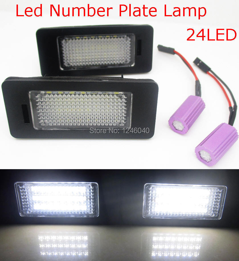 24led license plate light number plate lamp lamp for skoda. Black Bedroom Furniture Sets. Home Design Ideas