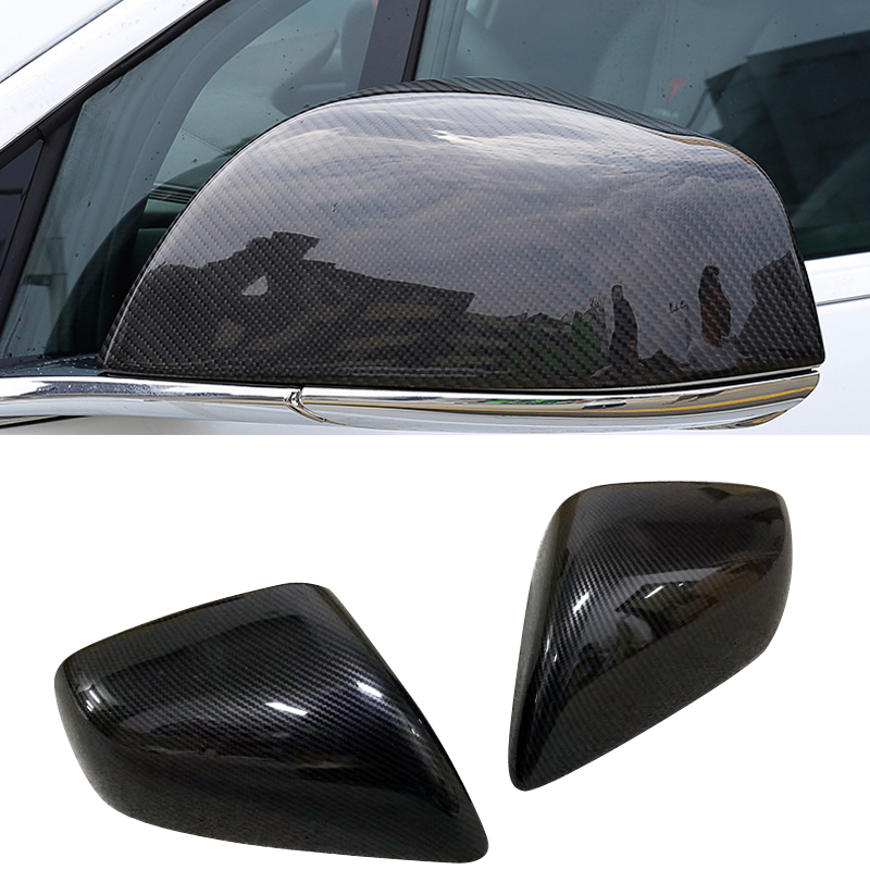 2 pieces /set ABS Car styling Exterior Rear view Side Door Mirrors Cover Trim For Tesla Model X 2016 2017 2018 Car Accessories epr car styling for nissan skyline r32 gtr gtst carbon fiber mirror cover glossy fibre exterior side accessories racing trim
