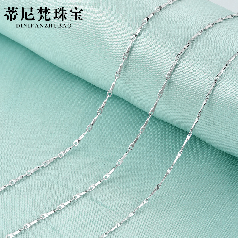 2018 Choker Collares Direct Sale S925 Chain Necklace Clavicle Single Paragraph 0.8 A Backgammon Female Dnfl042 Distribution