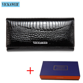 Alligator Patent Leather Women's Wallet Bags and Wallets New Arrivals Women's Wallets Color: New Black and Box Ships From: Russian Federation