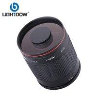 Lightdow 500 мм F8 руководство к телефото объектив зеркала с T2 T Крепление переходное кольцо для Canon Nikon sony Pentax Fujifilm Olympus Камера
