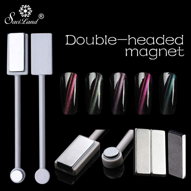Saviland 1pcs 3D Cat Eyes Magnet Double Head Magnetic for Nail Gel ...