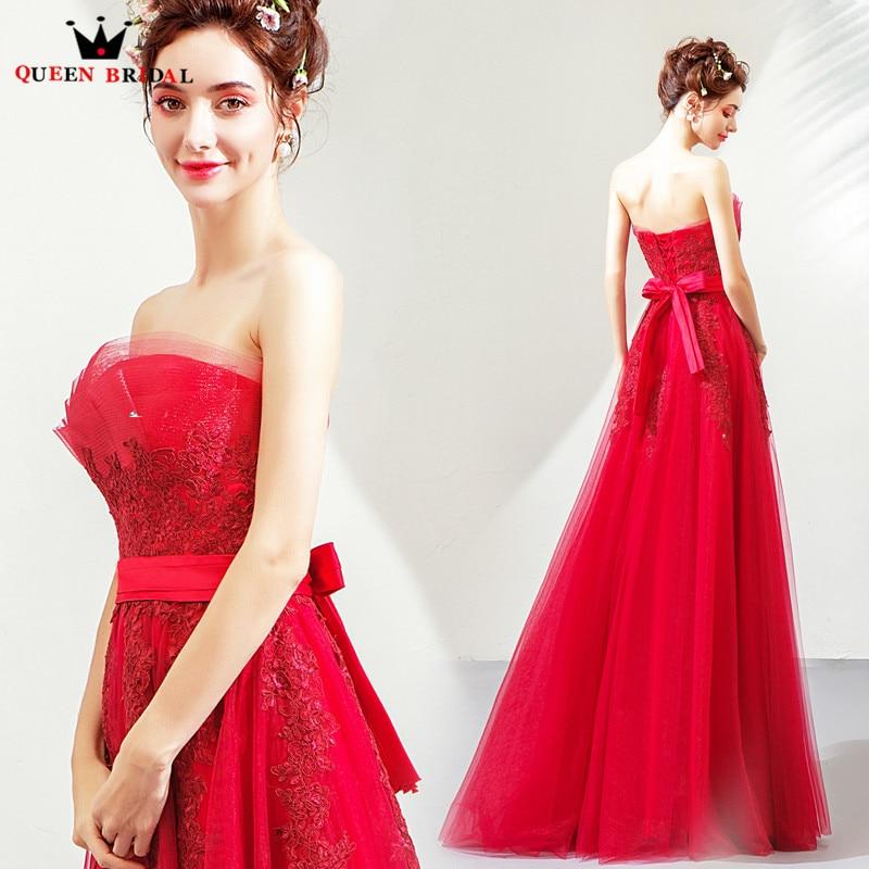 Evening     Dresses   2019 In Stock A-line Strapless Prom Gown Vestido De Festa Floor Length Long Party   Dress   JK19