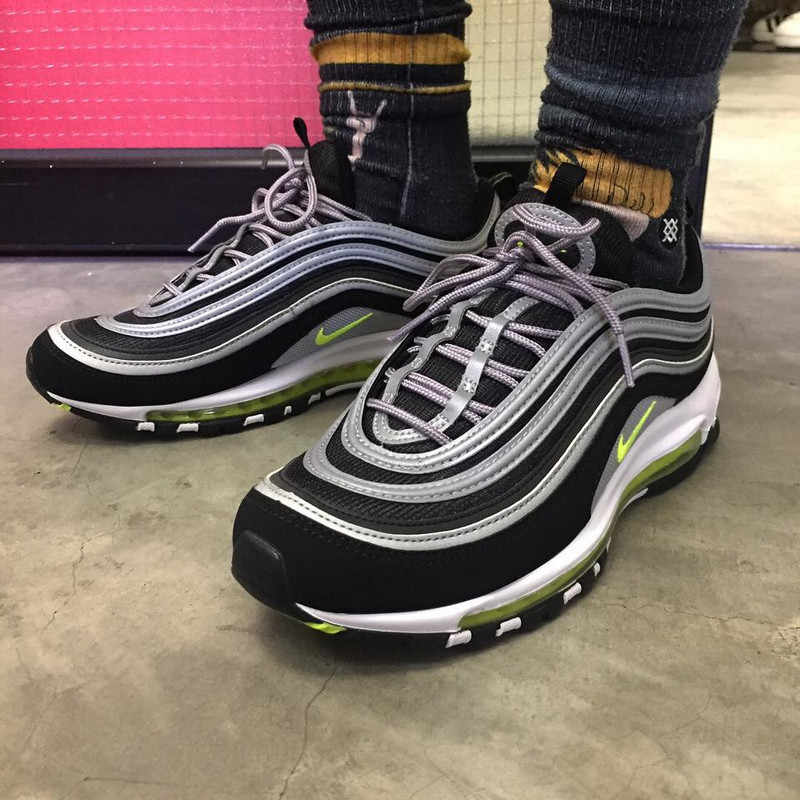 d2ed1fe9bd ... Nike Air Max 97 Fluorescent Green Retro Flow Line Men Breathable 3M Badminton  Shoes,NIKE