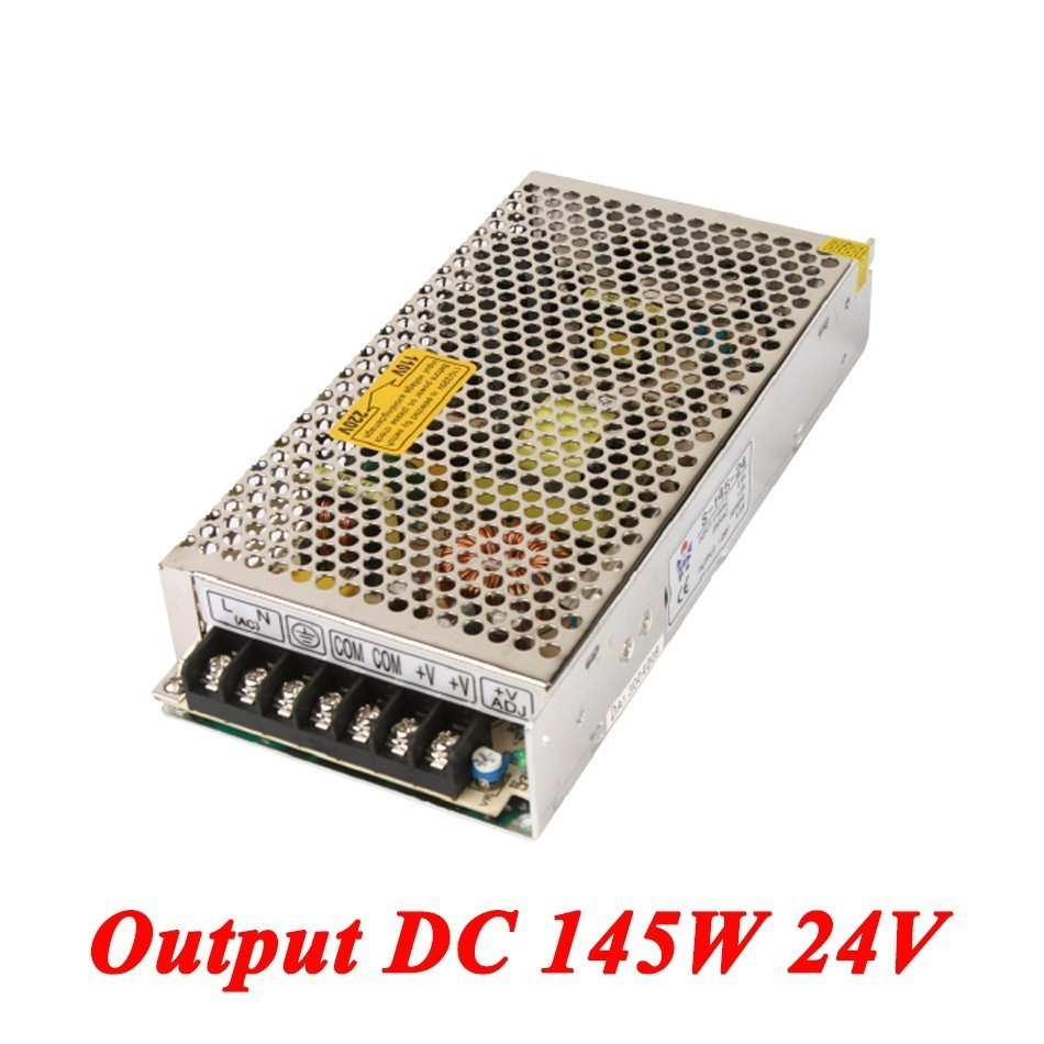S-145-24 145W 24v 6A,Single Output Watt Switching Smps Power Supply For Led Driver,voltage Converter AC110V/220v To Dc 24v SMPS s 800 36 single output 800w 36v dc switching power supply driver transformer 220v ac to dc36v smps for cnc machine diy led cctv