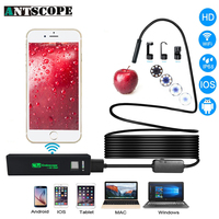 Antscope Endoscope Wifi Camera 8mm HD 1200P IPhone Borescope Waterproof Camera Endoscopio Soft Hard Wire Wifi